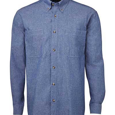 Custom L/S Cotton Chambray Shirt in Perth