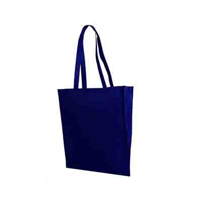 Promotional Navy Non Woven Tote Bag V Gusset in Perth, Australia