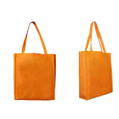 Promotional Orange Non Woven Large Tote Bag with Gusset in Perth, Australia