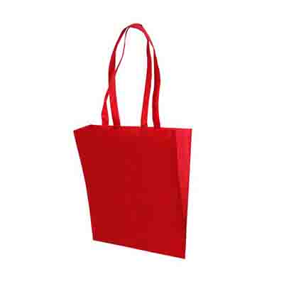 Promotional Red Non Woven Tote Bag V Gusset Online in Perth