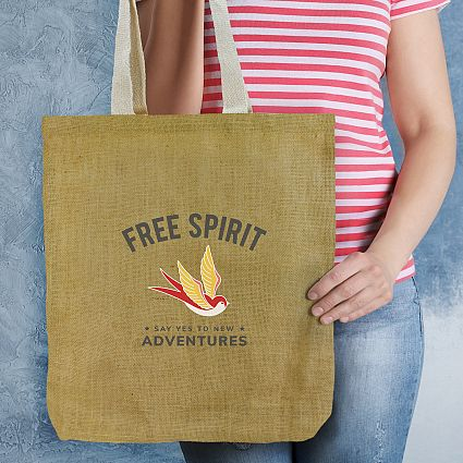 Promotional Thera Jute Tote Bags in Perth