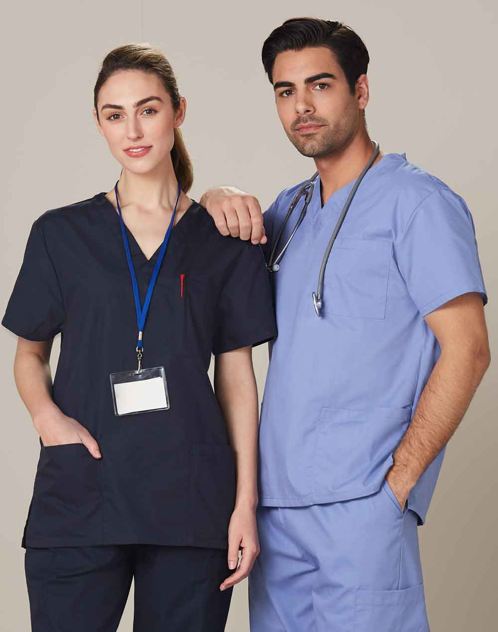 Promotional Unisex Scrubs Short Sleeve Tunic Tops Online in Perth
