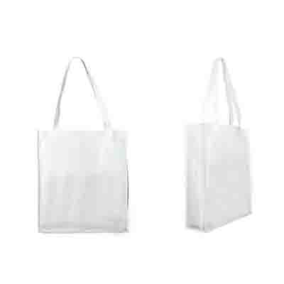 Promotional White Non Woven Large Tote Bag with Gusset Online in Perth
