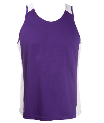 Design Your Own Purple White OC Mens Basketball Singlets in Perth