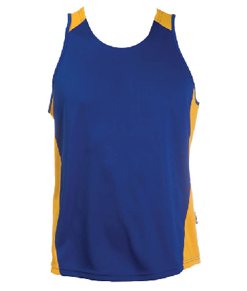 Order Printed Royal Gold OC Mens Basketball Singlets in Perth