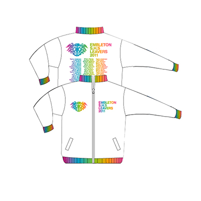 Apparels Sublimation Custom Printed Made General SCHOOL LEAVERS School Leavers - White Perth Australia