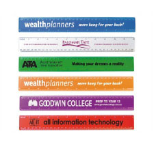 Printed Transparent 30cm Premium Plastic Ruler Perth