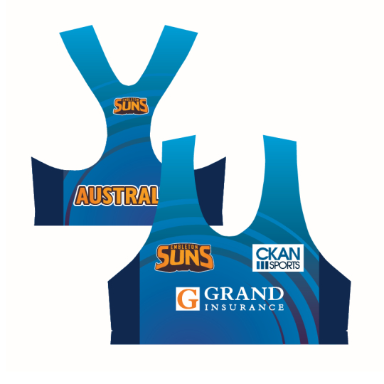 Apparels Sublimation Custom Printed Made Volleyball Crop Tops Perth Australia