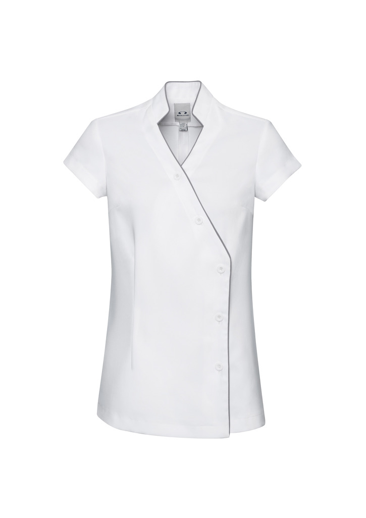 Promotional White/Silver Grey Ladies Zen Crossover Tunic Online in Australia