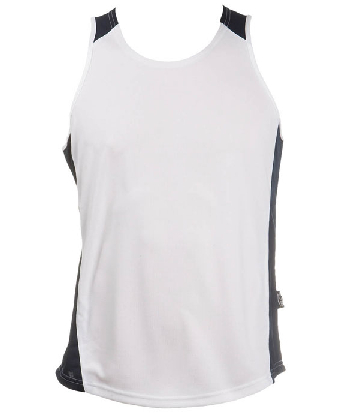 Get Custom White Navy OC Mens Basketball Singlets in Australia
